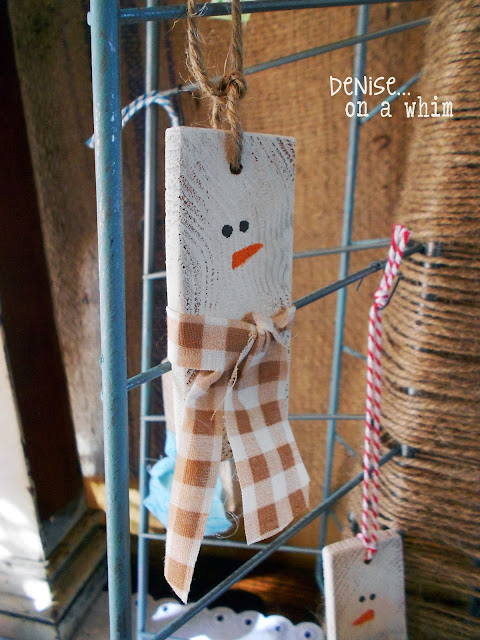 snowman ornaments from slices of 2x4s