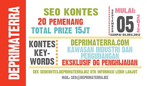 Informasi Kontes SEO De Primaterra 2012 Terbaru