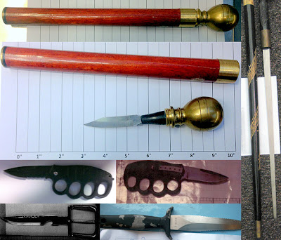 Various types of knives.