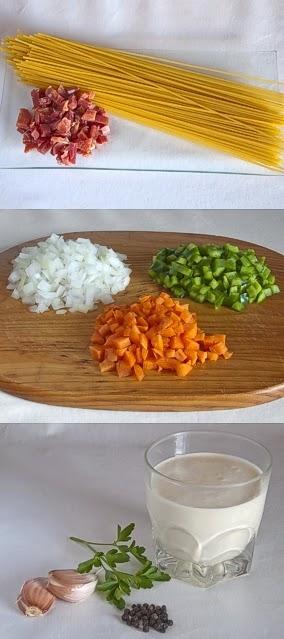 La gastrocinemia espaguetis con salsa de nata jam n y - Salsas para pasta con nata ...
