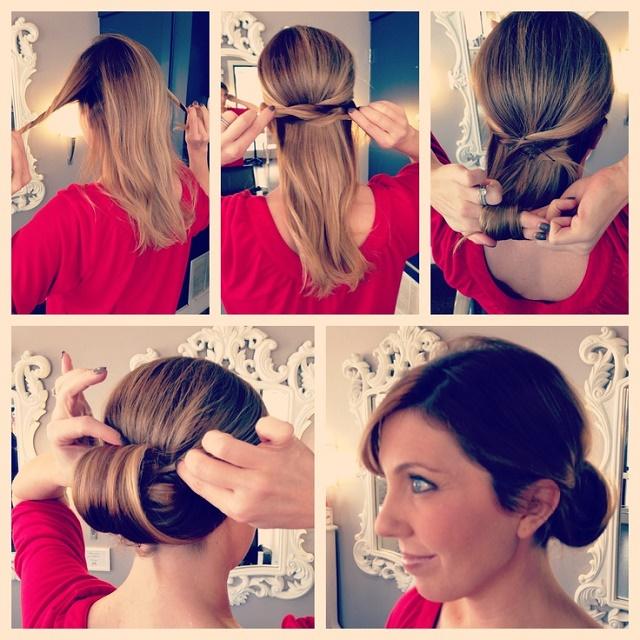 No Solo DIY Peinado paso a paso recogido elegante