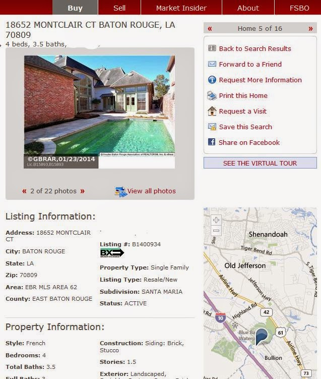 Homes For Sale With A Swimming Pool In Baton Rouge Louisiana