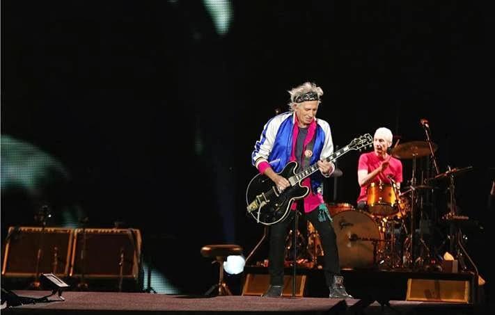 Keith Richards in Saint Laurent - Rolling Stones 2014 Tour, Tokyo