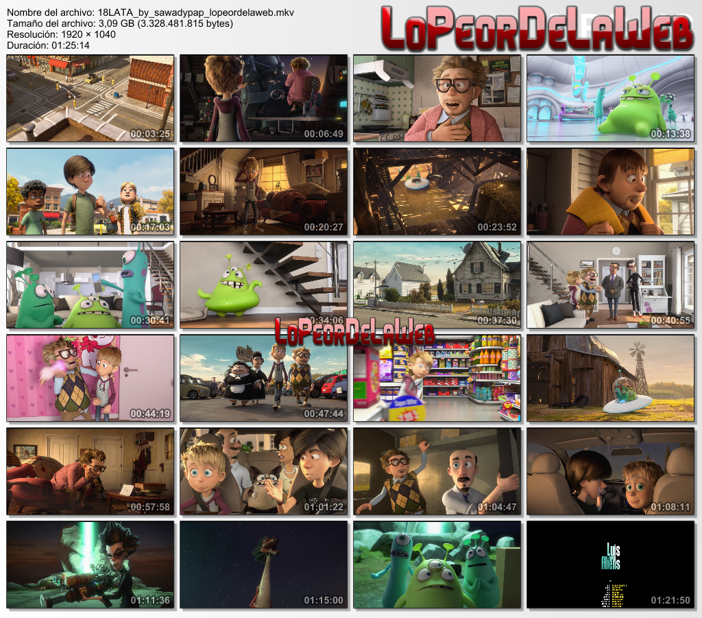 Luis and the Aliens [2018] [BBRip 1080p] [Dual Audio]