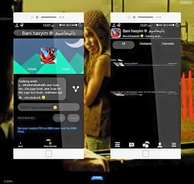BBM Mod Android Tema BlackCherry V 2.8.0.21 Apk