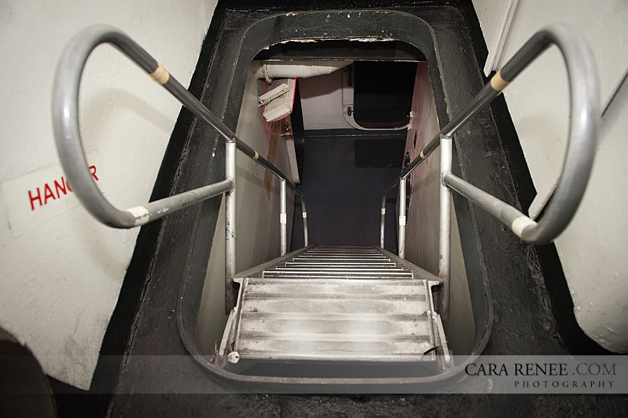Typical stairwell (ladder) aboard U.S. Naval vessel.
