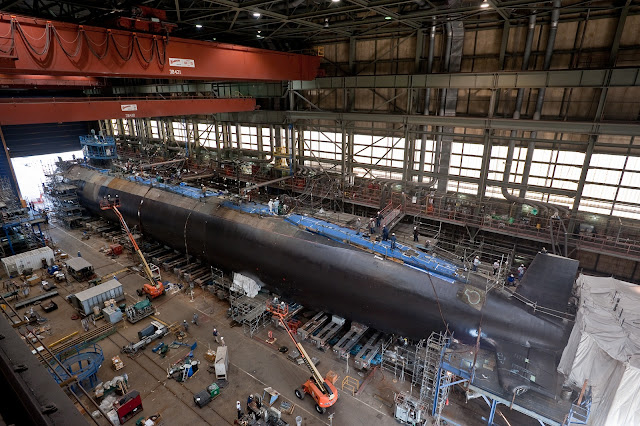 Virginia class SSN under construction