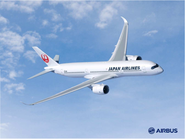 JAL announces its first ever Airbus order today. Airbus 350 in JAL livery.