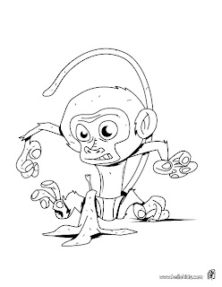 Monkey Coloring Pages - Free Printable Pictures Coloring Pages For