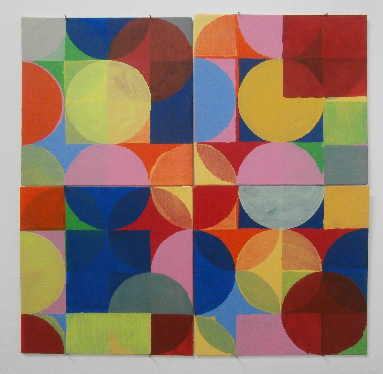 circle square acrylic, kate mackay, painting, factory 49, geometric abstraction, non objective,