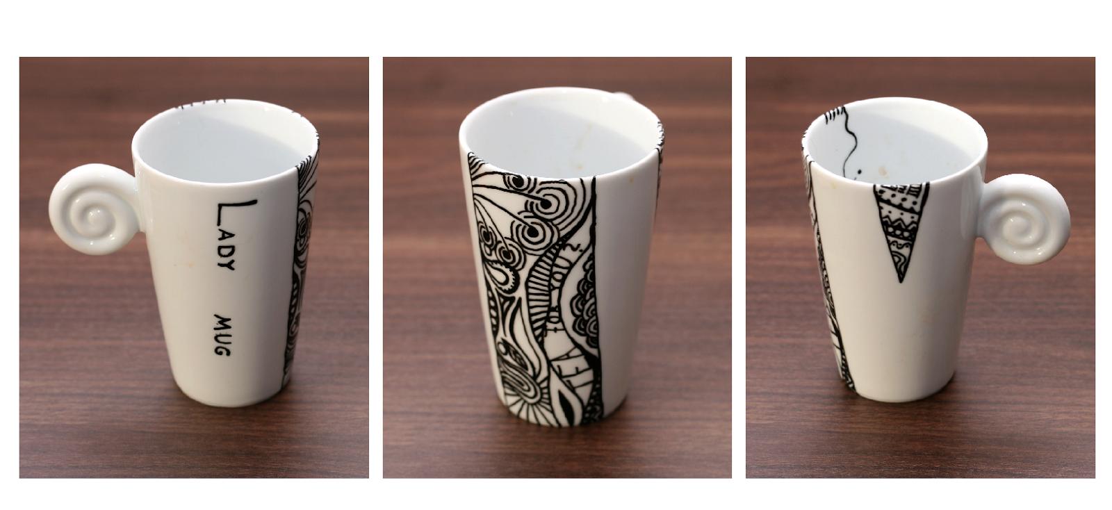 doodled distraction avp tassen schwarz wei. Black Bedroom Furniture Sets. Home Design Ideas
