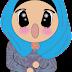Freebies muslimah doodle buka Mulut