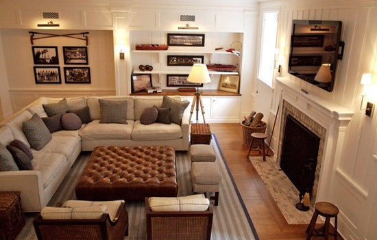 House envy furniture layout big or small space you 39 ve for Family room furniture layout tv fireplace