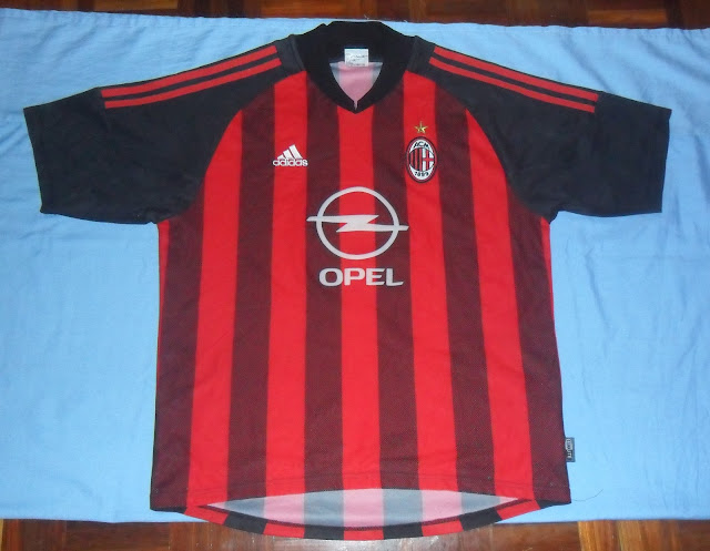 Authentic 2002 2003 AC MILAN F C jersey