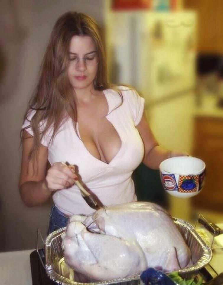 Turkey basted nake girl