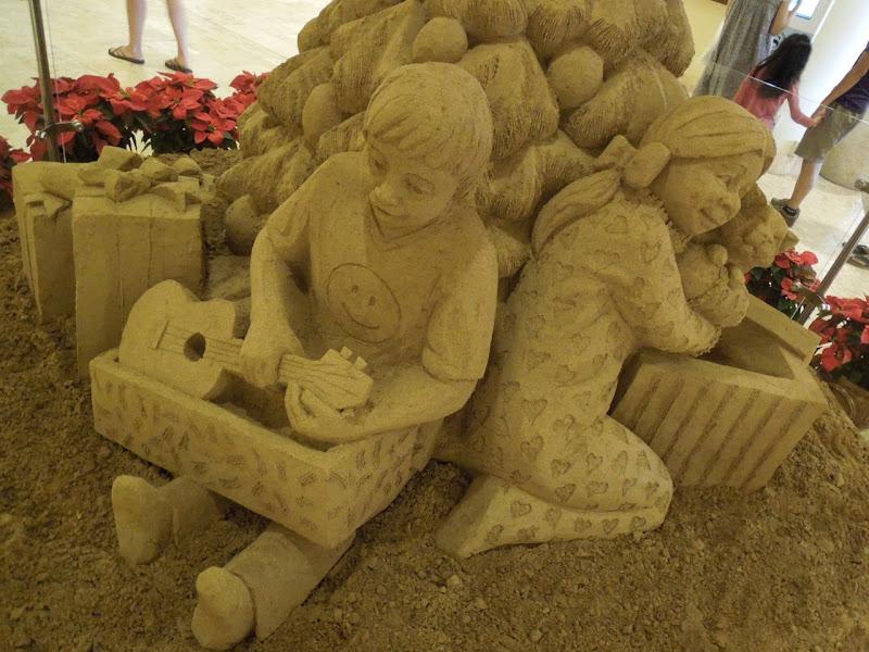Festive Hawaiian sand sculpture