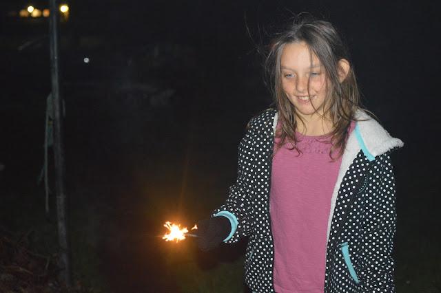 Bonfire Night 2015 Milford Marina Fireworks Sparklers