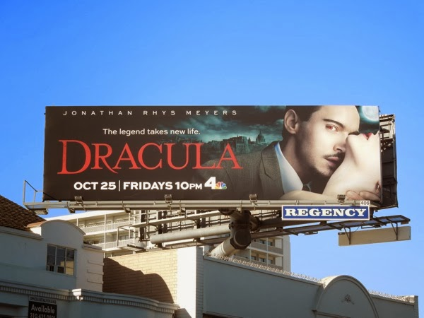 Dracula series premiere TV billboard