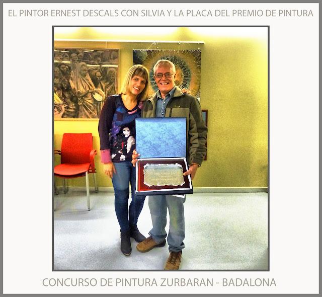 CONCURSO-PINTURA-ZURBARAN-BADALONA-PREMIO-SILVIA-FOTOS-ARTISTA-PINTOR-ERNEST DESCALS-