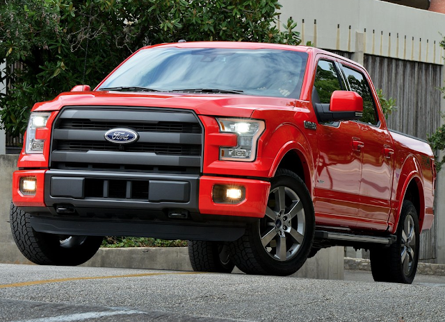 2015 Ford F-150 SuperCrew red