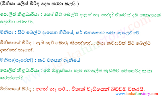 Sinhala Fun Stories-Wife-Part Two
