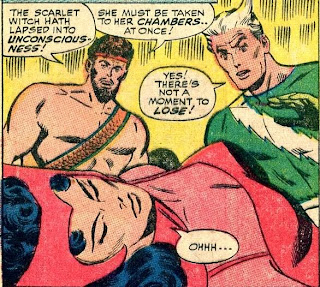 Avengers funny comic panel with Hercules, Quicksilver, and Scarlet Witch