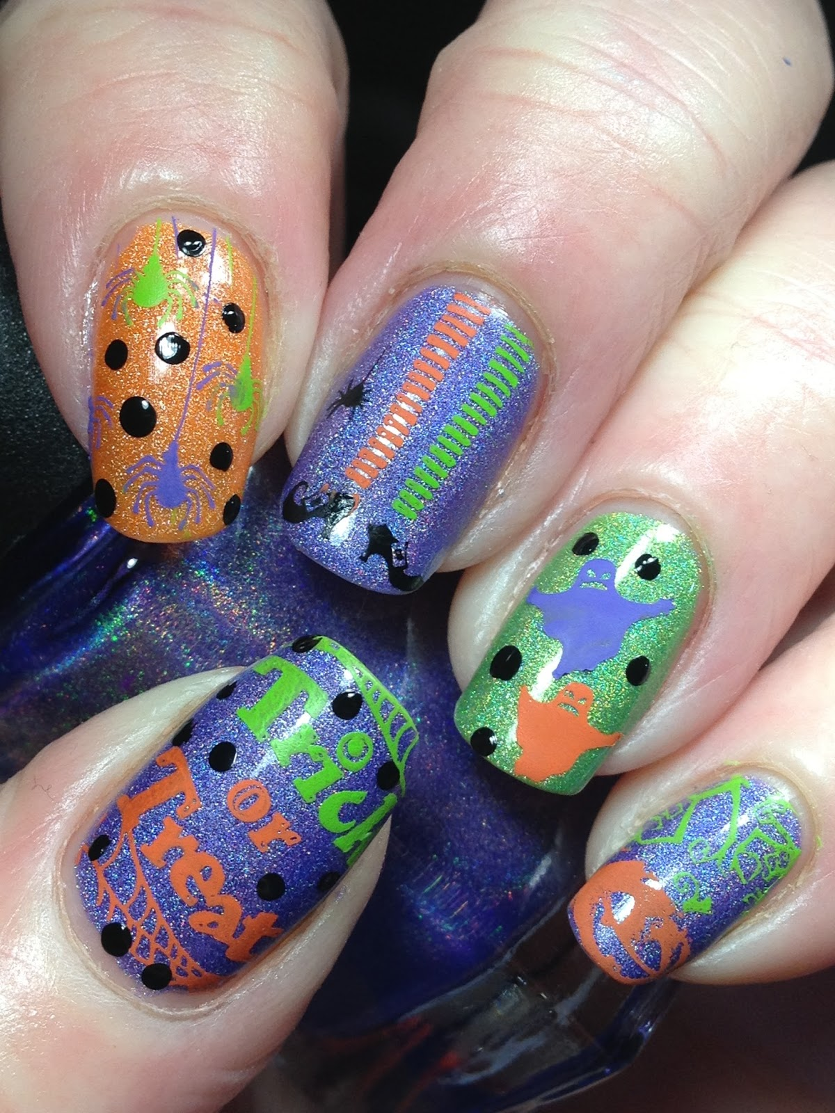 Canadian Nail Fanatic: 40 Great Nail Art Ideas - Orange, Purple ...