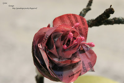 Newspaper roses- recycling school project