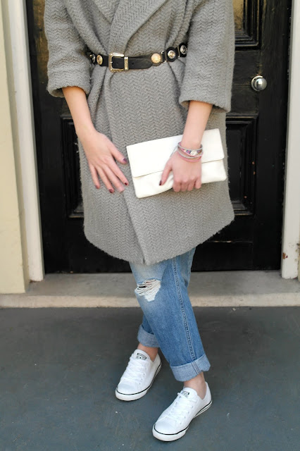 ASOS Grey coat by What Laura did Next