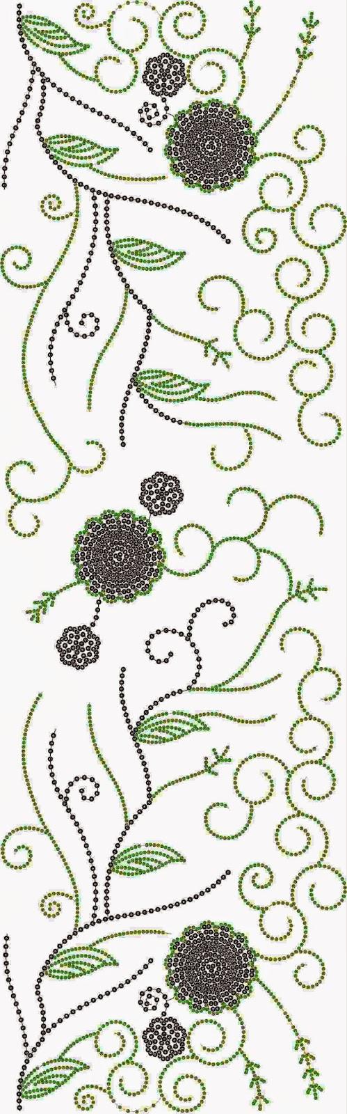 gerekenariseerde borduurwerk Oral patroon