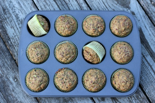 Whole Wheat Zucchini Flax Muffins