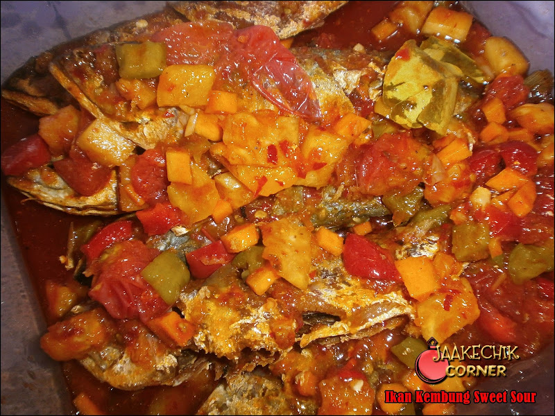 RESEPI, ikan sweet sour, ikan masam manis, ikan tiga rasa, ikan 3 rasa, ikan kembung, masak sweet sour, my resepi,