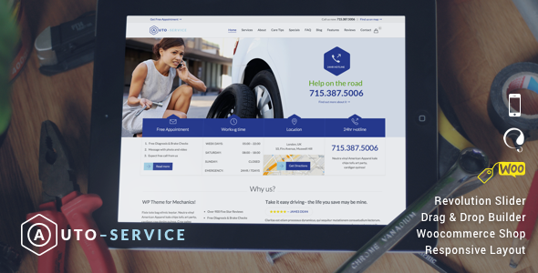 Car Repair Mechanic Shop Responsive Theme
