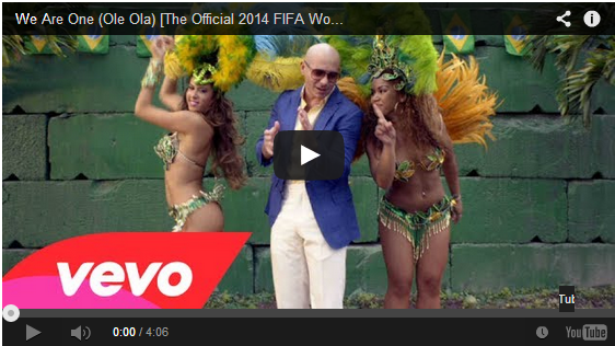 Cancion del mundial 2014 Pit bul