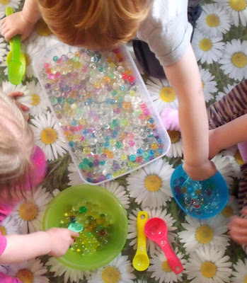 Preschool Sensory Play with Waterbeads