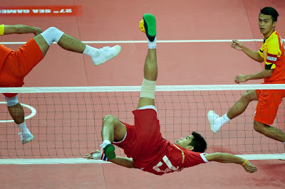 27th, SEA, Games, Malaysia, Naypyidaw, Sepaktakraw, Competition, Men, Regu, Thailand, Myanmar,