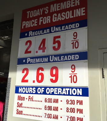 Costco gas for Nov 17, 2015 at Sunnyvale, CA