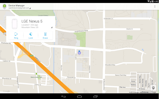 Android Device Manager Screenshot