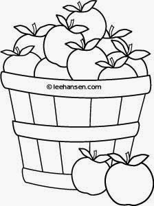 Printable Coloring Book Pages Apples in Baskets Signal