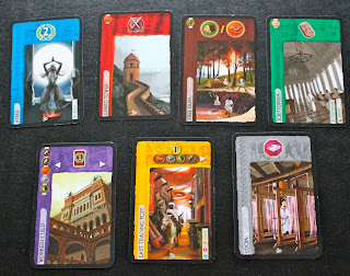 Distintos tipos de cartas del 7 Wonders