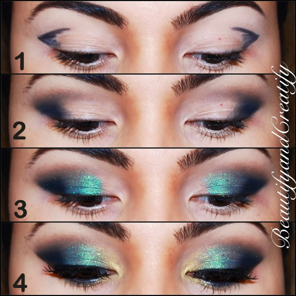 Shimmery Turquoise And Gold Holiday Makeup Tutorial