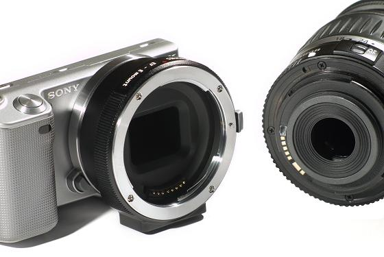 sony nex conurus canon eos ef lens smart adapter