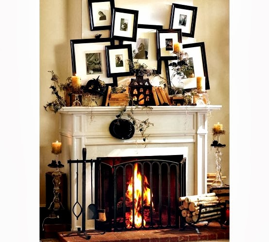 have you conjured up a few ideas - Halloween Mantel Decor