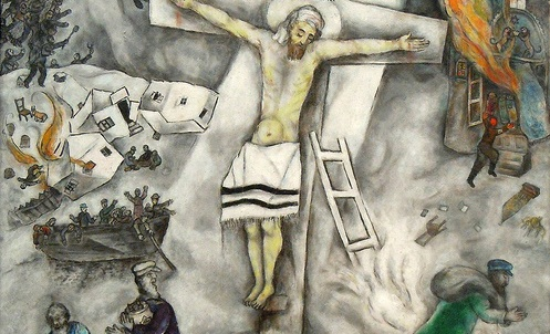"ALPHA OMEGA ARTS: Holy-day Art for ""LENT"" (Day #14) by ... Chagall Crucifixion"