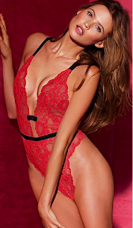 Victorias Secret Red Laquer Lace Teddy