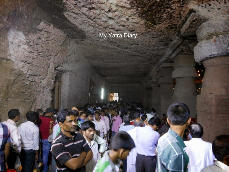 People in queue at the Jogeshwari caves during Shravan, Mumbai