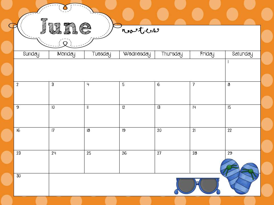Calendar Printables For Teachers : School year calendar freebie