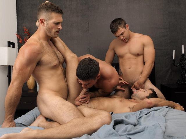 Free gay gang bang video