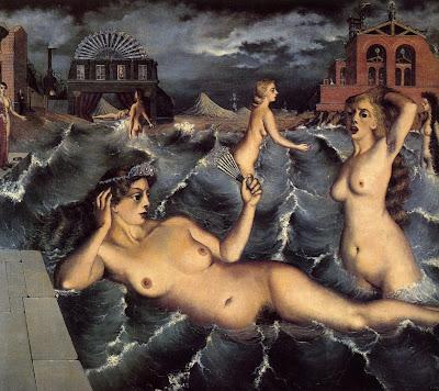 Paul Delvaux, Les nymphes se baignant,1938
