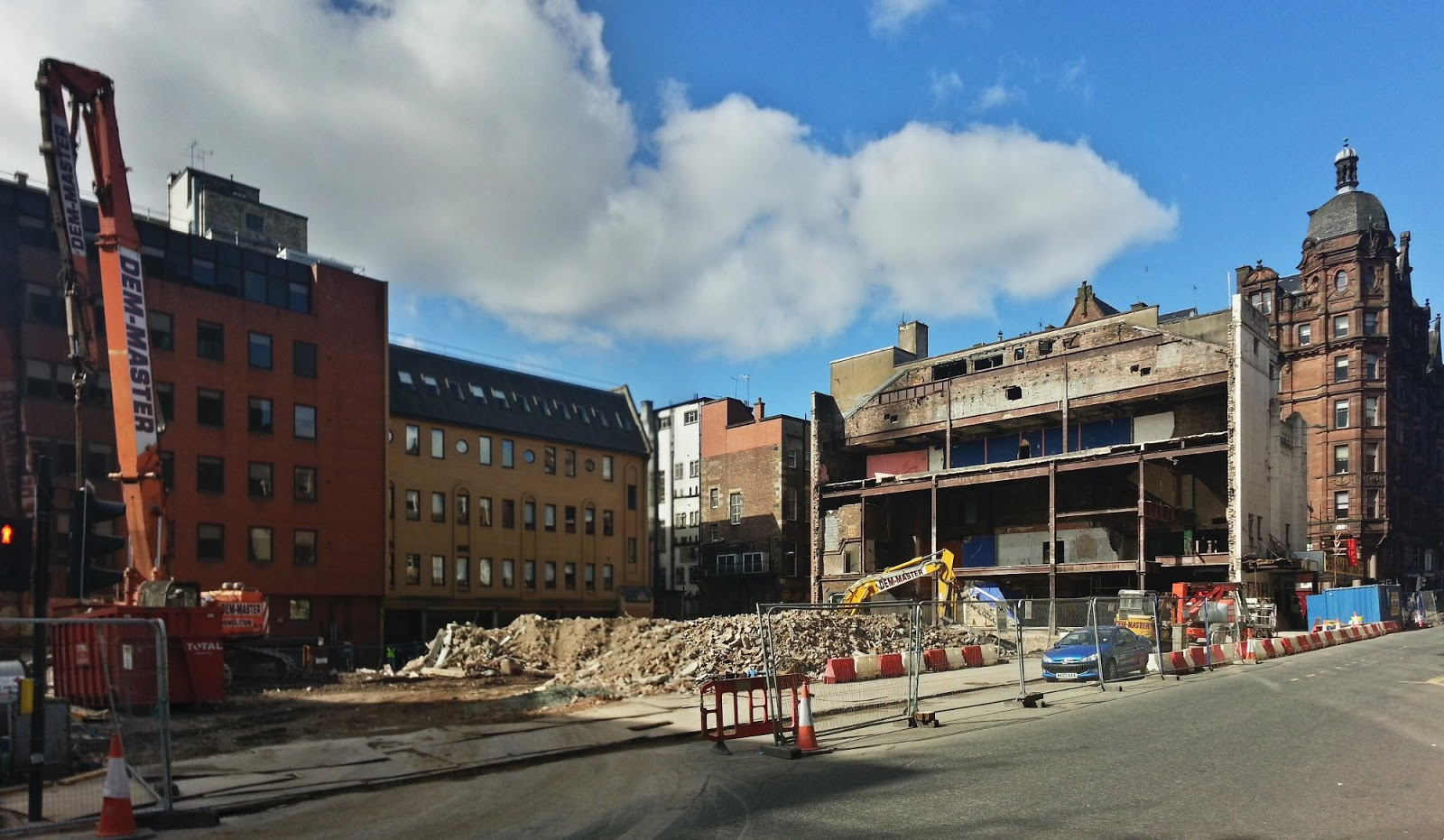 Odeon demolished,Glasgow